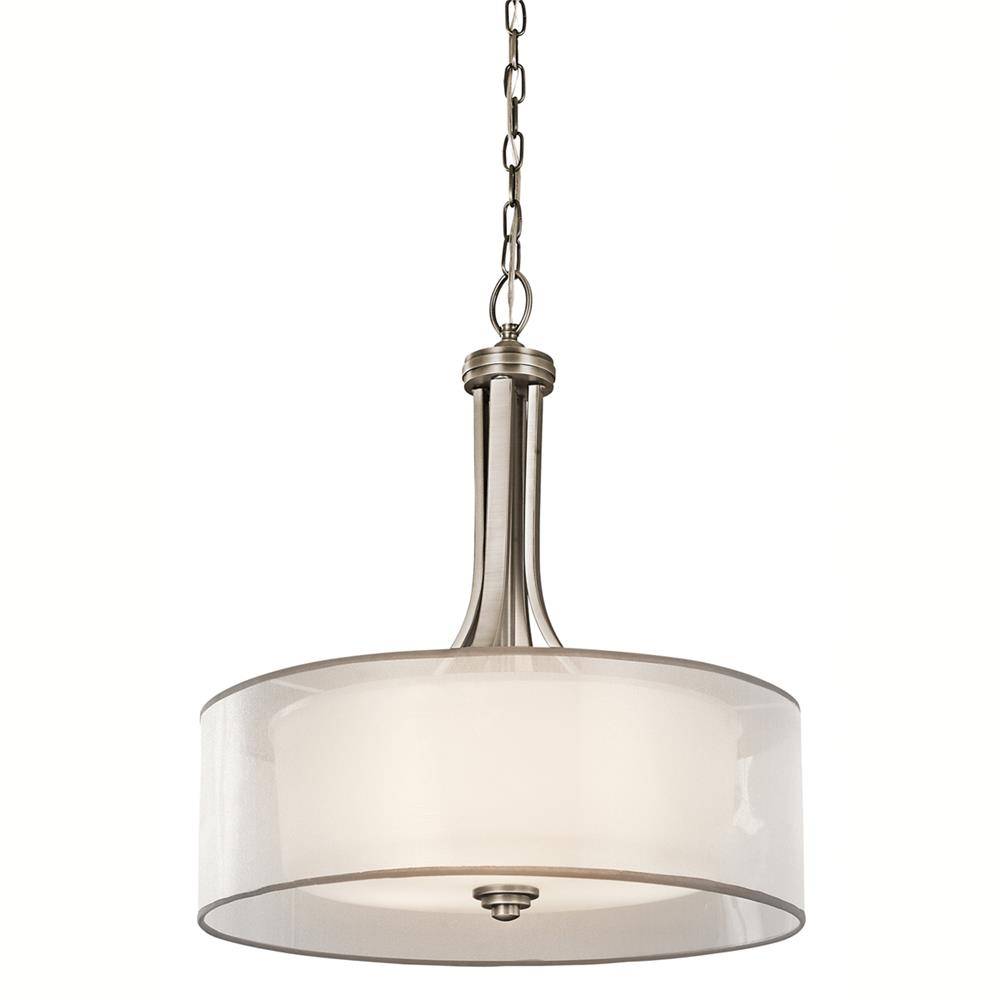 Kichler 42385AP Inverted Pendant 4 Lt in Antique Pewter