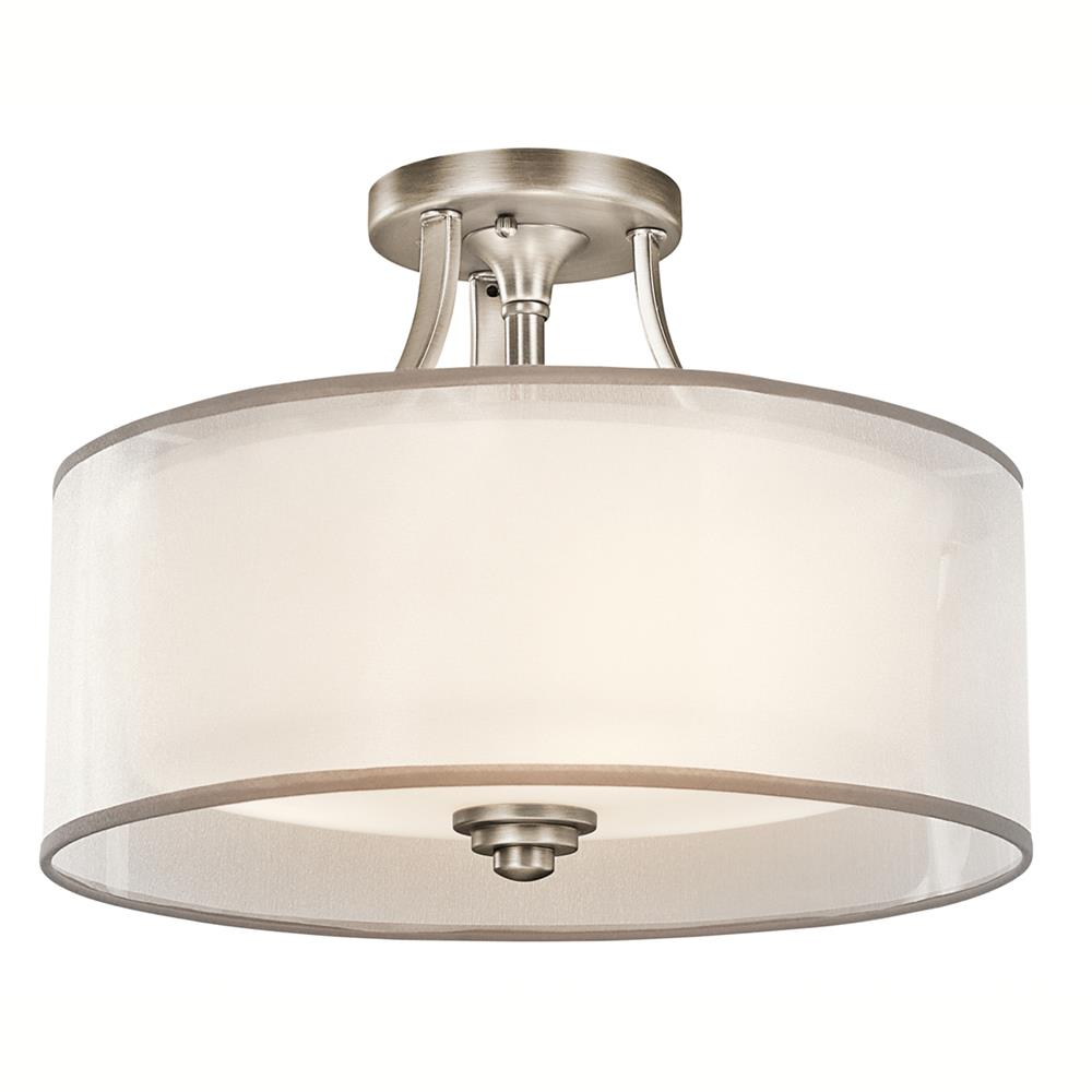 Kichler 42386AP Semi Flush 3 Lt in Antique Pewter