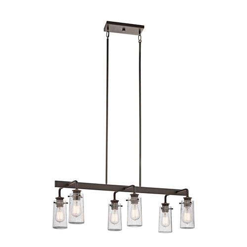 Kichler 43059OZ Braelyn Chandelier Linear 6Lt in Olde Bronze