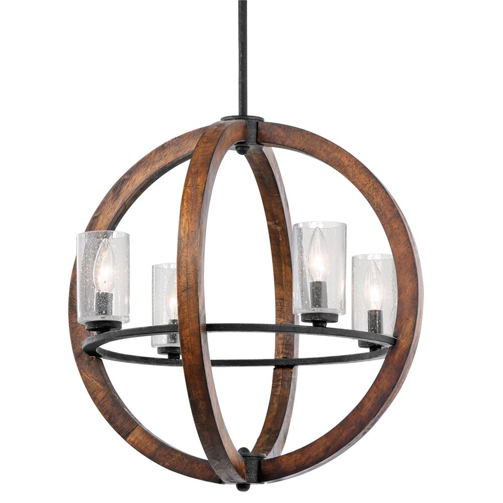 Kichler 43185AUB Chandelier/Pendant 4 Lt in Auburn Stained Finish