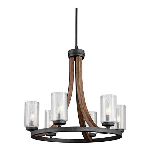 Kichler 43193AUB Grand Bank Chandelier 6Lt in Auburn Stained Finish