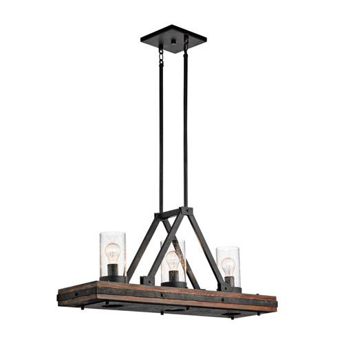 Kichler 43433AUB Colerne Chandelier Island 3Lt in Auburn Stained Finish
