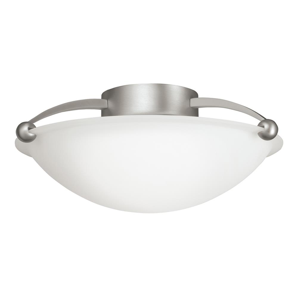 Kichler BUILDER 8405NI Semi Flush 2 Lt in Brushed Nickel