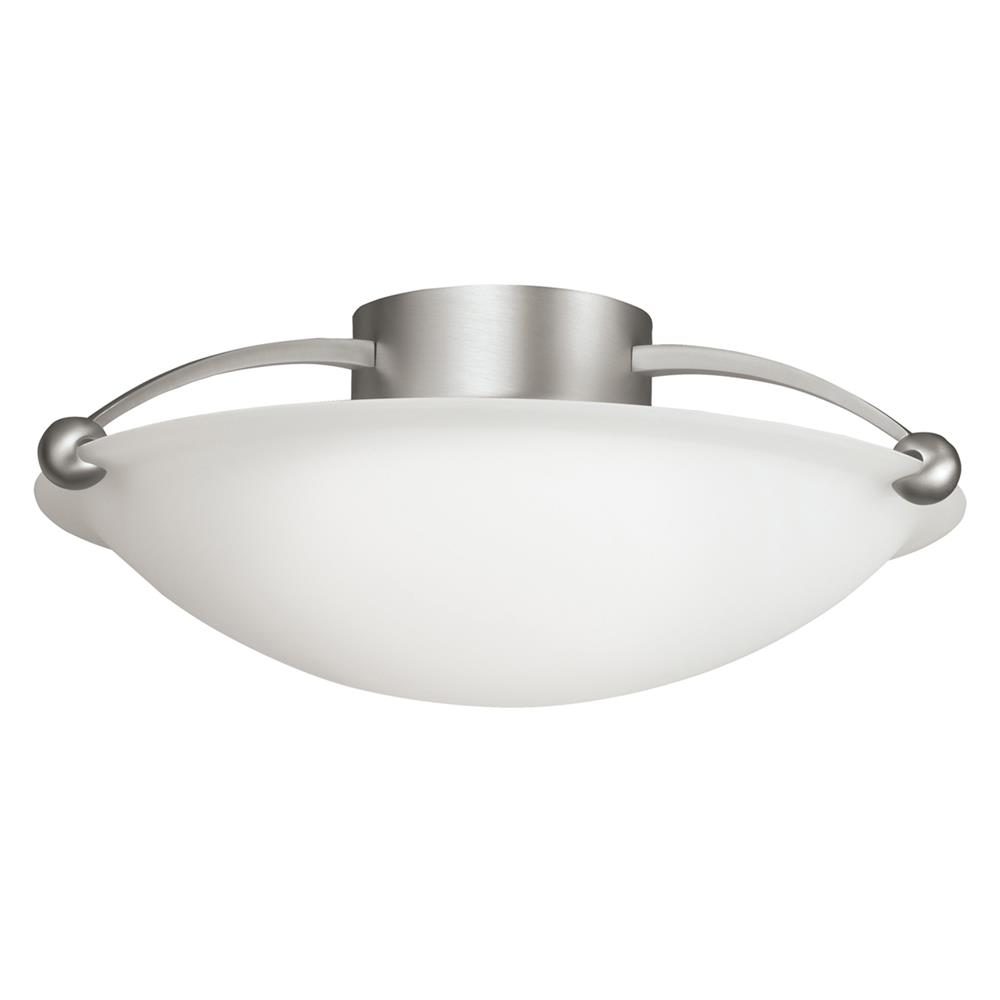 Kichler BUILDER 8406NI Semi Flush 3 Lt in Brushed Nickel