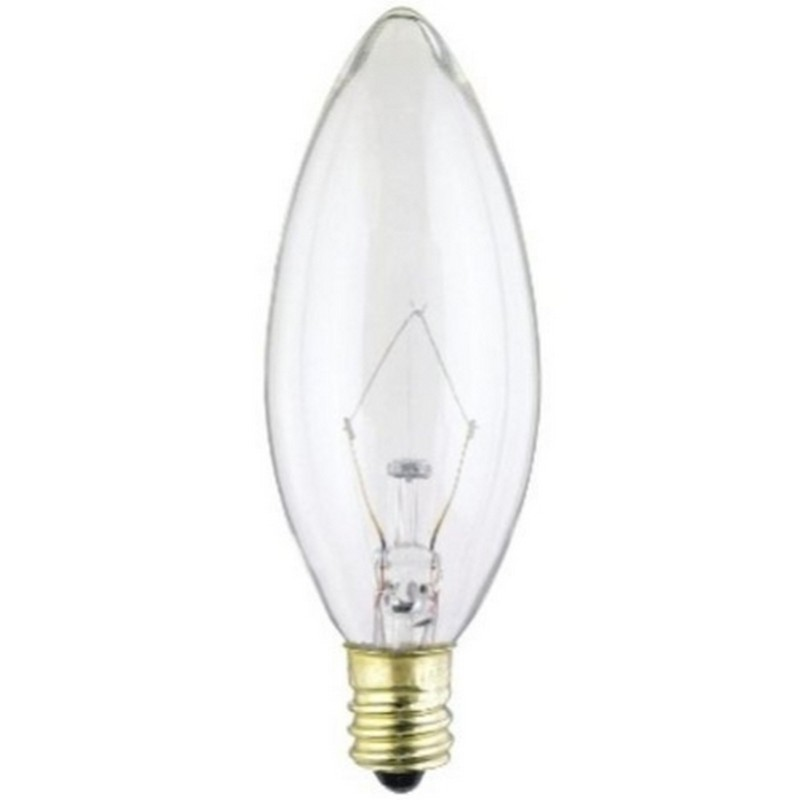 Kichler DECORATIVE FANS 4063CLR 40W E12 B10 Clear Bulb in Clear