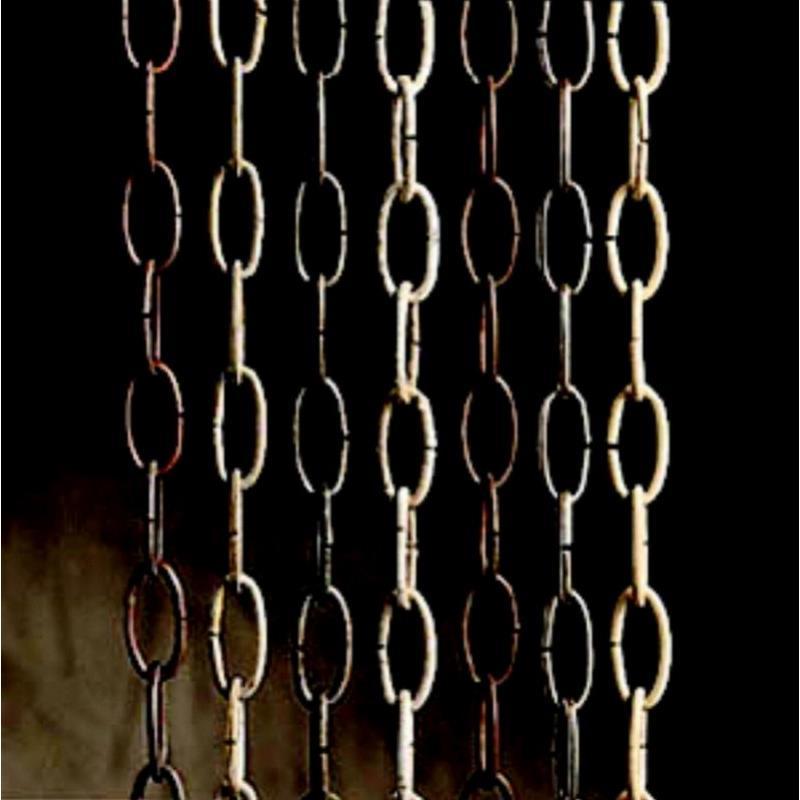 Kichler 4927AZ Outdoor Solid Brass Chain in Architectural Bronze