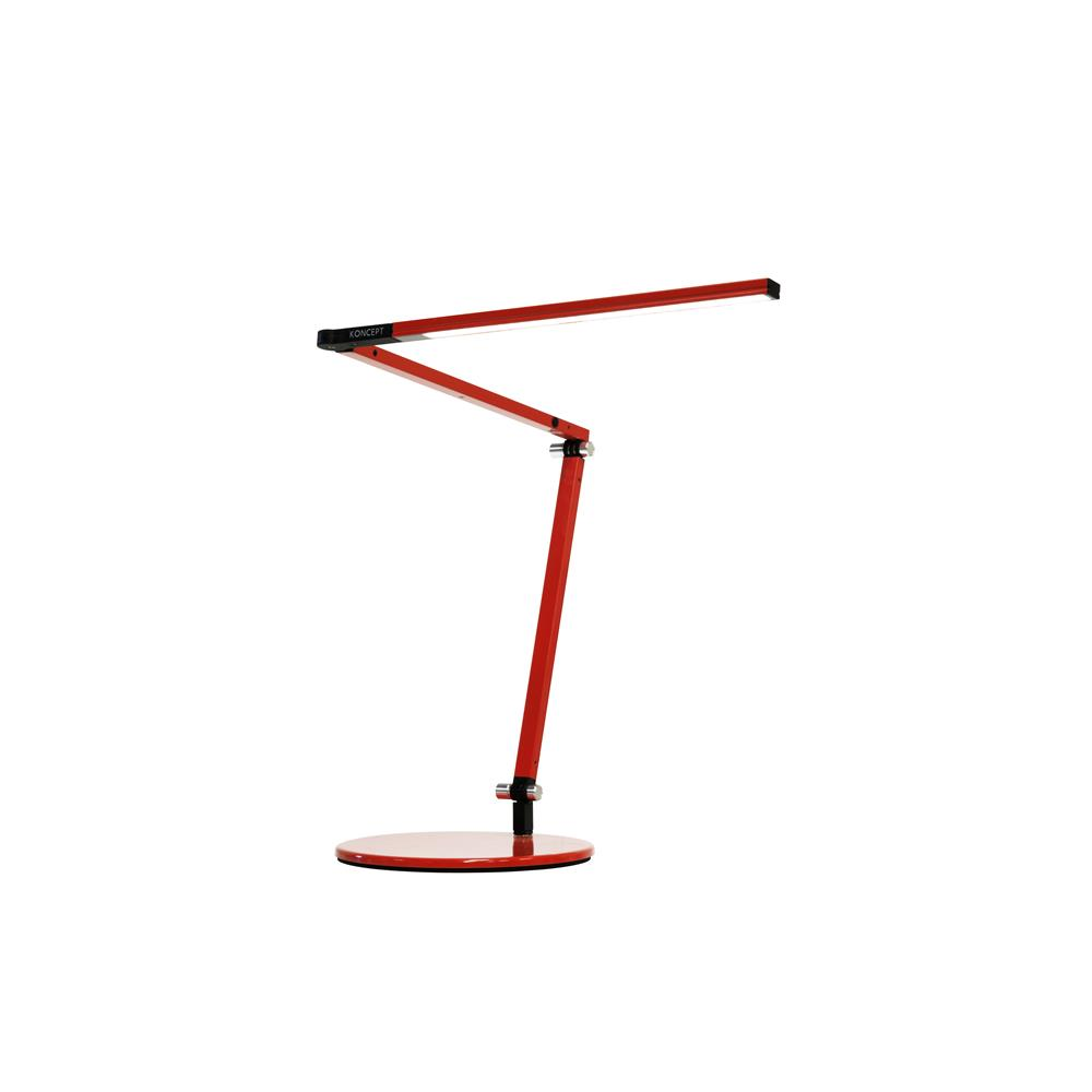 Koncept Lighting AR3100-WD-RED-DSK Z-Bar mini LED Desk Lamp with base (Warm Light; Red)