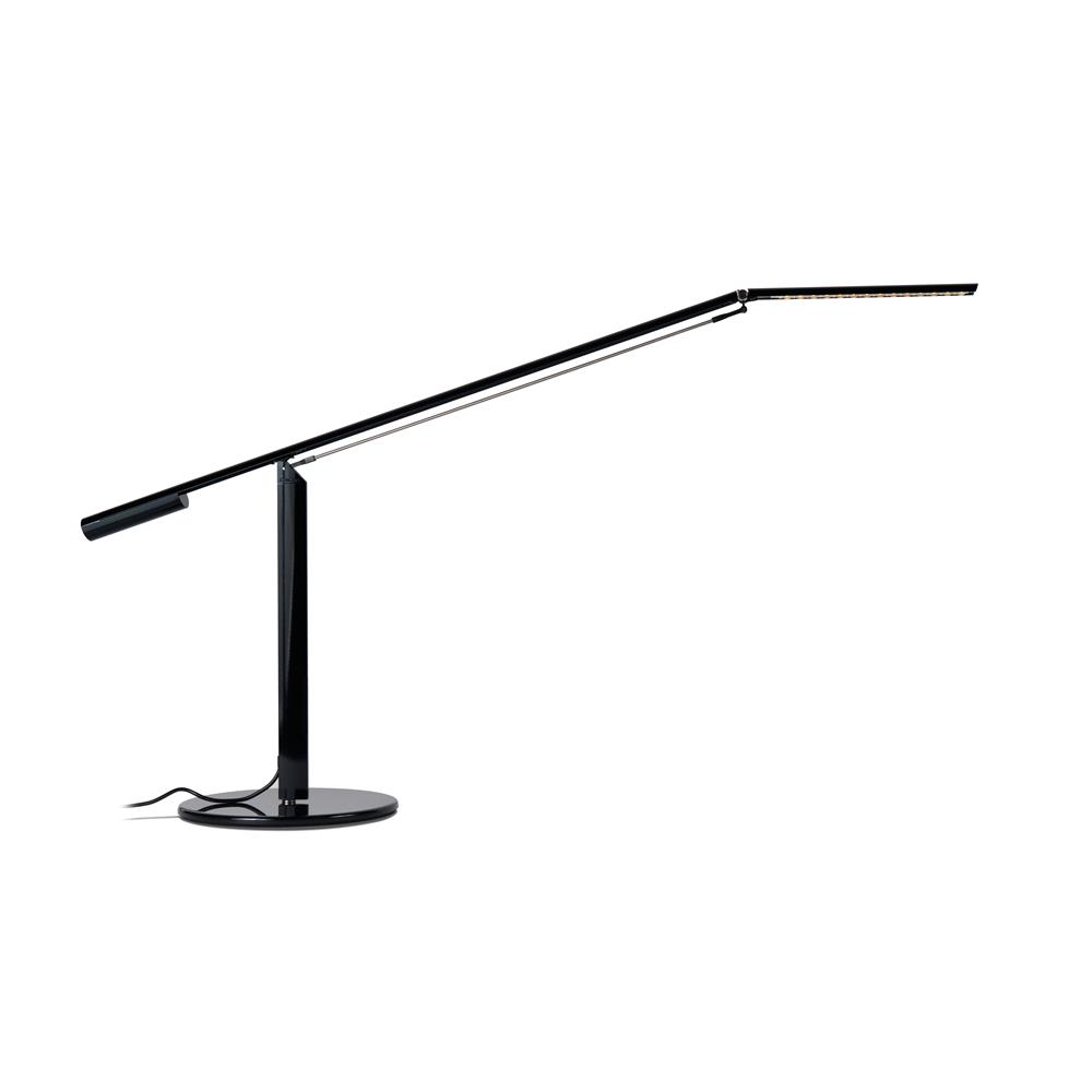 Koncept Lighting ELX-A-W-BLK-DSK Equo LED Desk Lamp (Warm Light; Black)