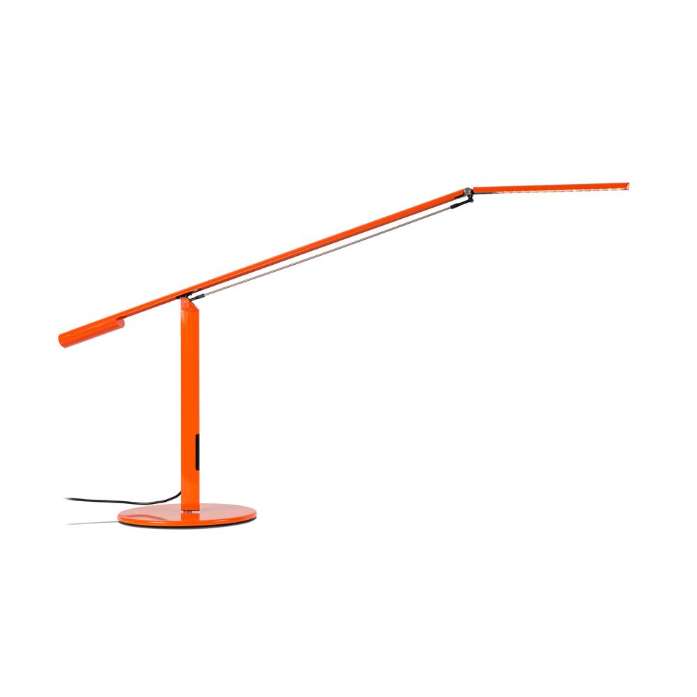 Koncept Lighting ELX-A-W-ORG-DSK Equo LED Desk Lamp (Warm Light; Orange)