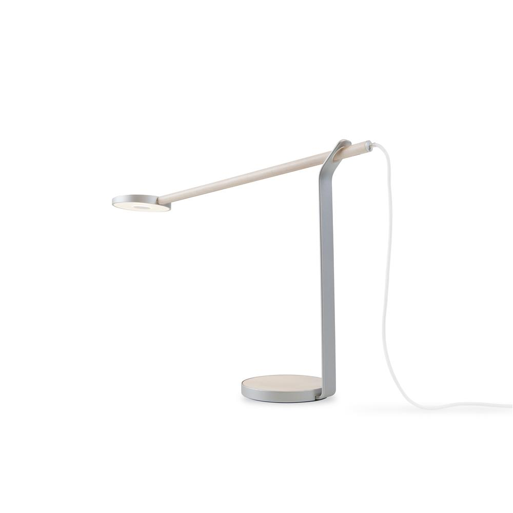 Koncept Lighting GR1-W-MPW-SIL-DSK Gravy LED Desk Lamp (Maple; Silver; Warm light)