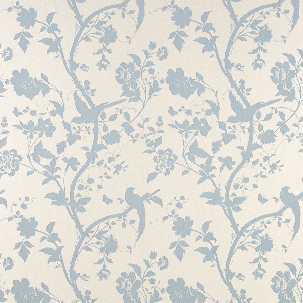 Laura Ashley 3308213 Oriental Garden Duck Egg Pearl Wallpaper