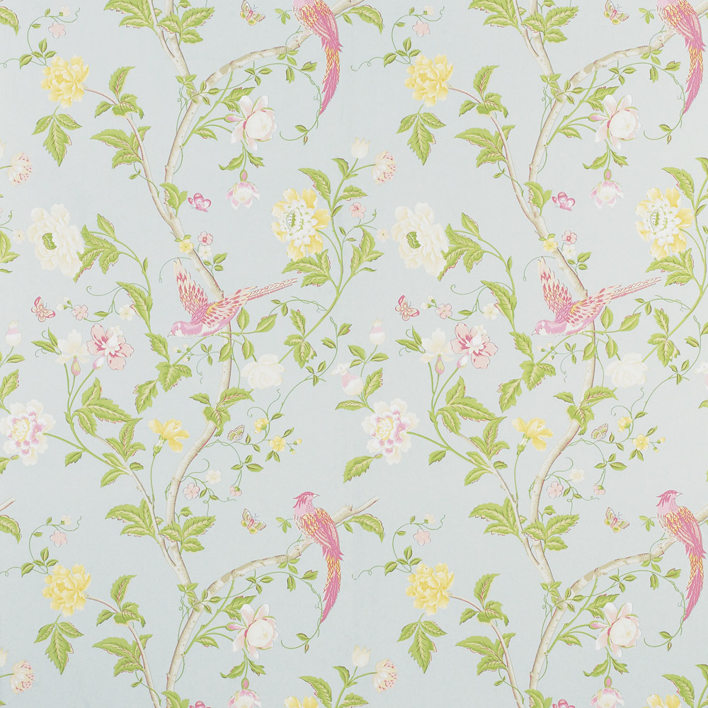 Laura Ashley 3308217 Summer Palace Duck Egg Wallpaper