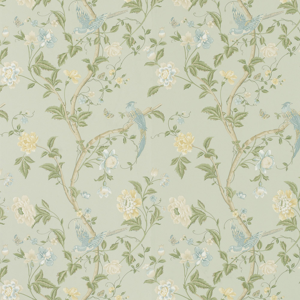 Laura Ashley 3468787 Summer Palace Eau de Nil Wallpaper