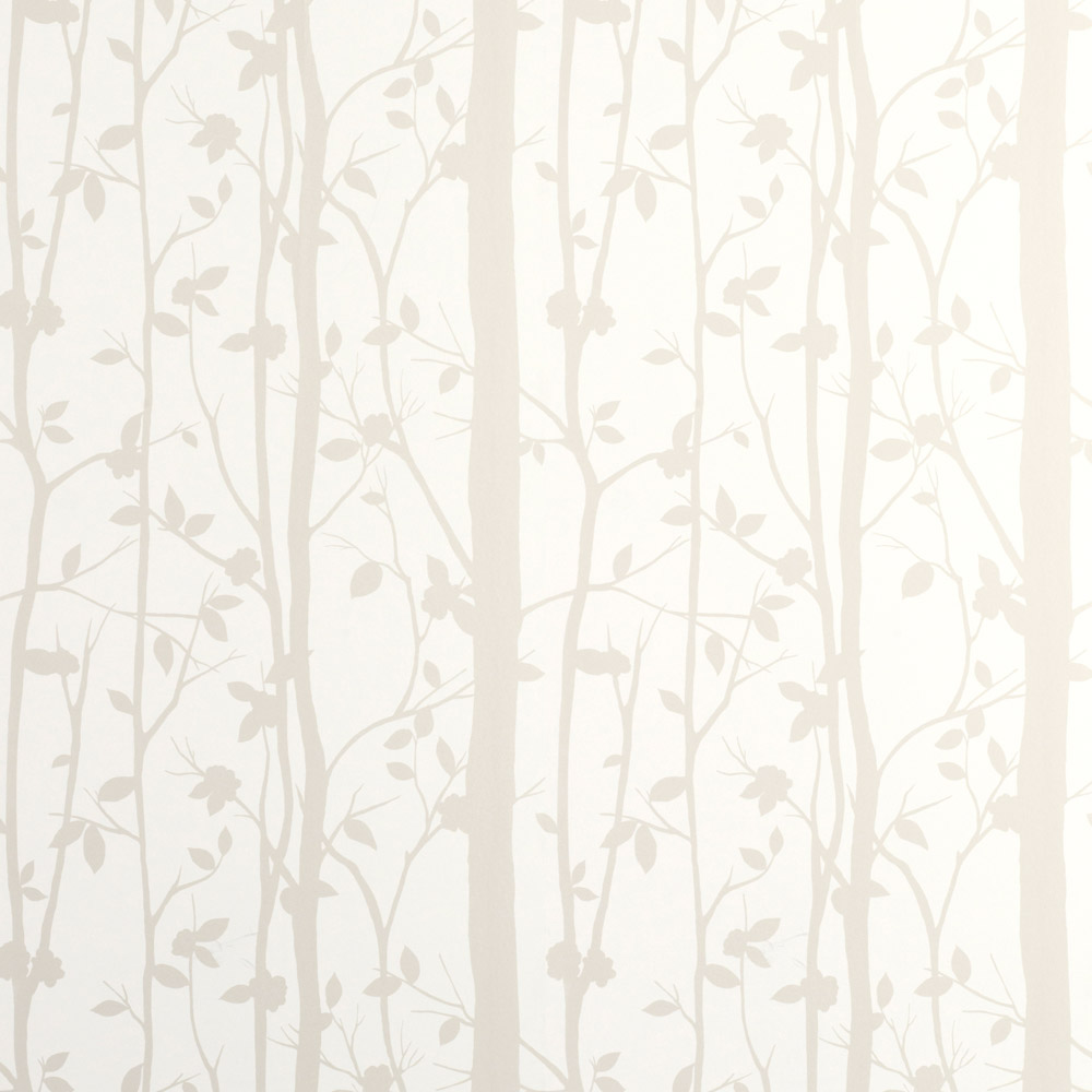 Laura Ashley 3485116 Cottonwood/White Wallpaper