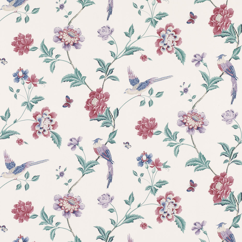 Laura Ashley 3519574 Elveden Cranberry Wallpaper
