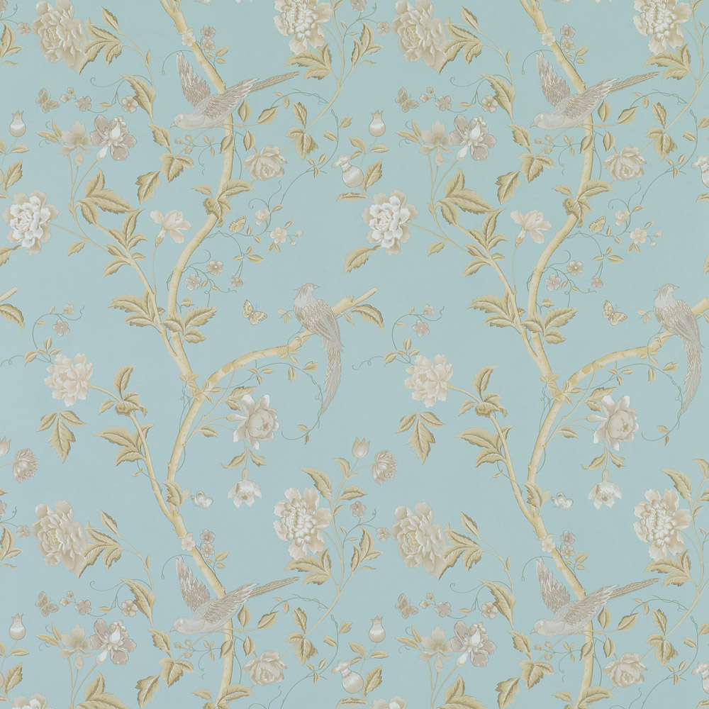 Laura Ashley 3519609 Summer Palace Powder Blue Wallpaper