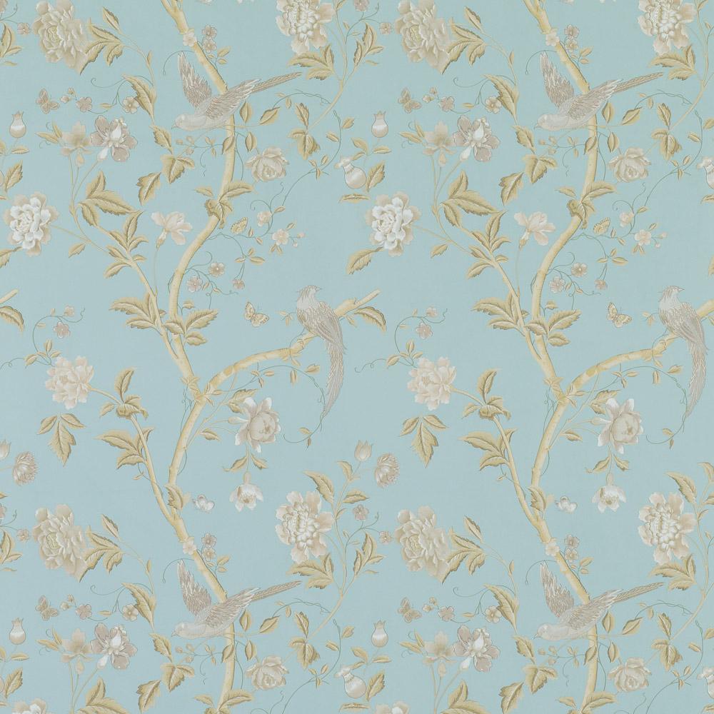 Laura Ashley 3519609 Summer Palace Powder Blue Wallpaper
