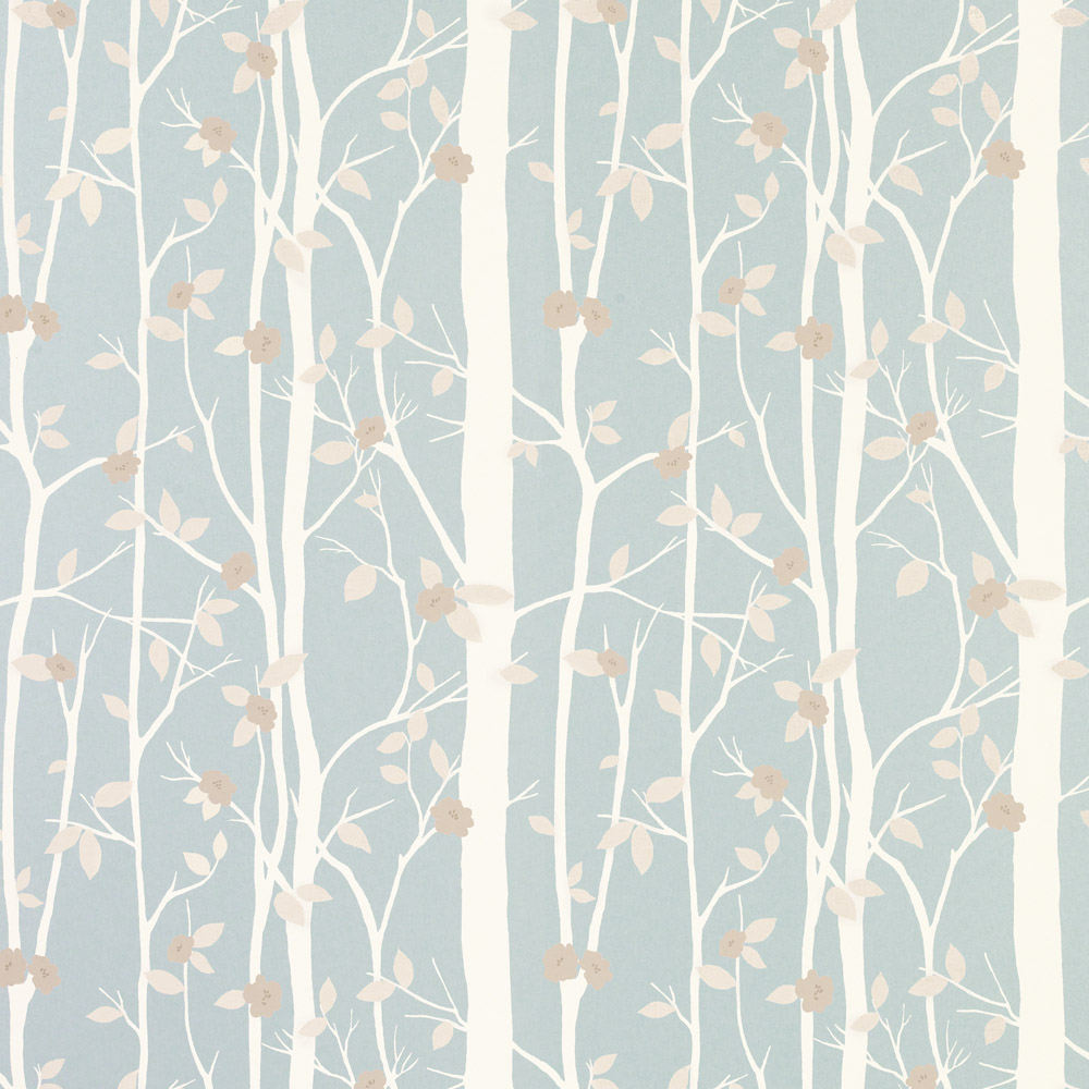 Laura Ashley 3534845 Cottonwood Duck Egg Wallpaper