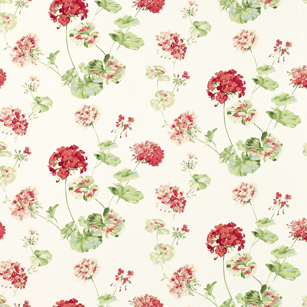 Laura Ashley 3585212 Geranium Cranberry Wallpaper