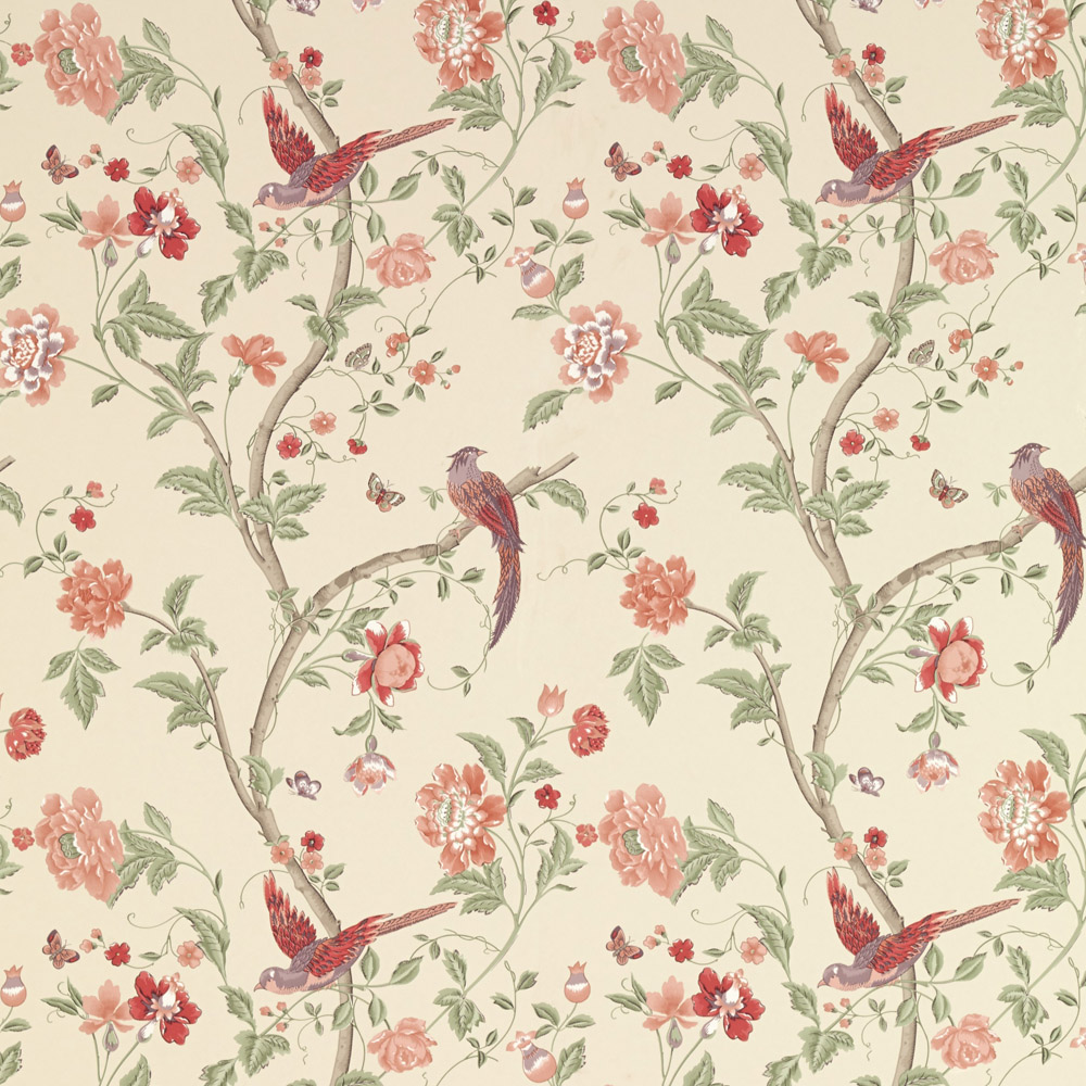 Laura Ashley 3601138 Summer Palace Cranberry Wallpaper