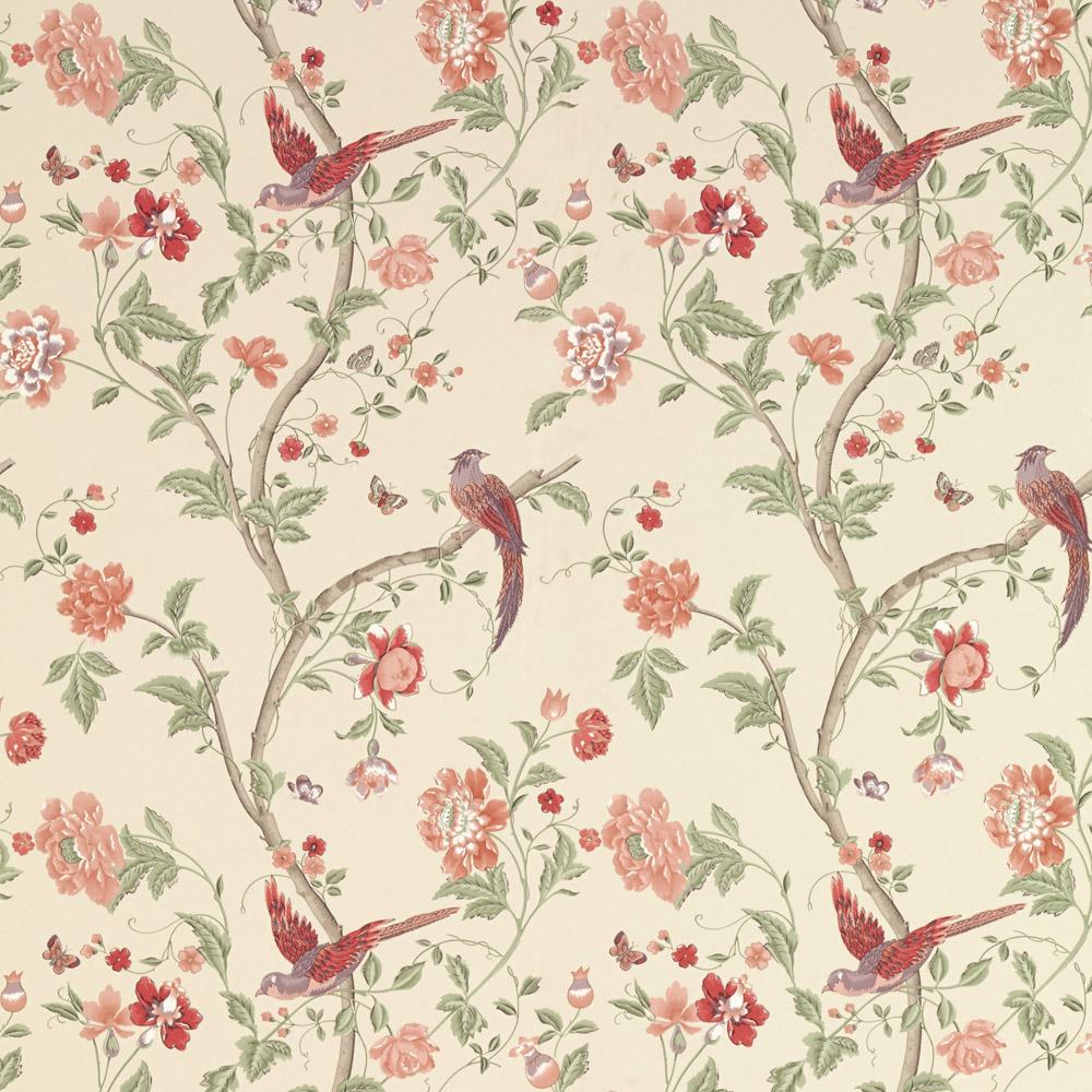 Laura Ashley 3601138 Summer Palace Cranberry Wallpaper