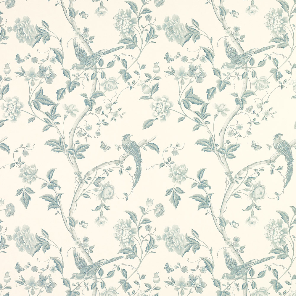 Laura Ashley 3621198 Summer Palace Off White/Duck Egg Wallpaper