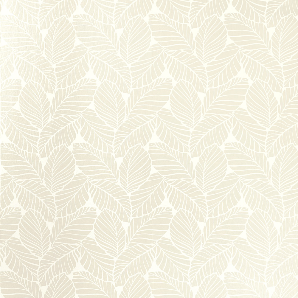 Laura Ashley 3621199 Palm Leaf White Wallpaper