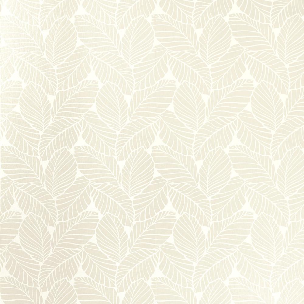 Laura Ashley 3621199 Palm Leaf White Wallpaper