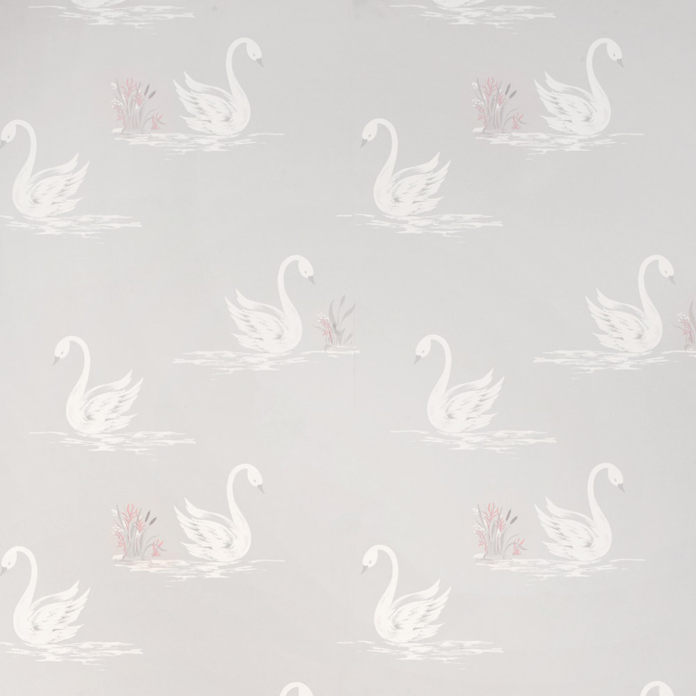 Laura Ashley 3635712 Swans Silver Wallpaper