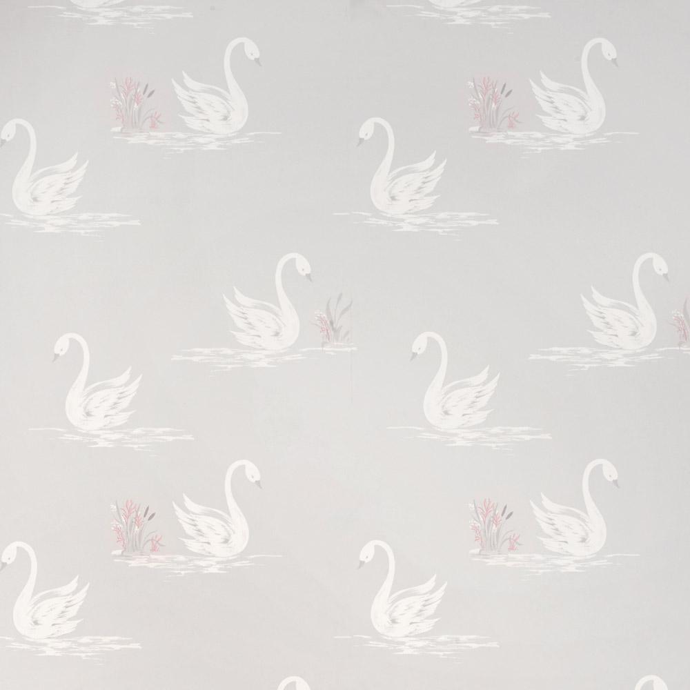 Laura Ashley 3635712 Swans Silver Wallpaper