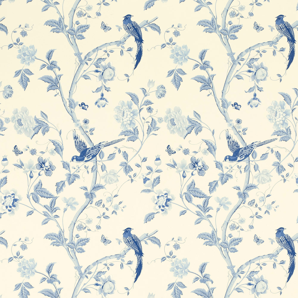 Laura Ashley 3635715 Summer Palace Royal Blue Wallpaper