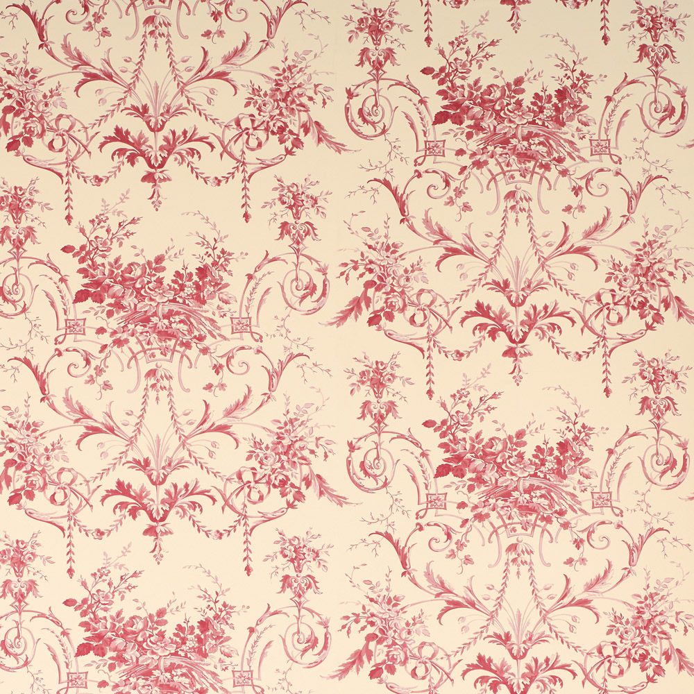Laura Ashley 3635827 Tuileries Cranberry Wallpaper