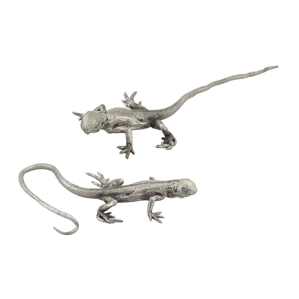 Dimond Home by Elk 165-006/S2 Hand Forged Long Tail Silver Lizard in Silver