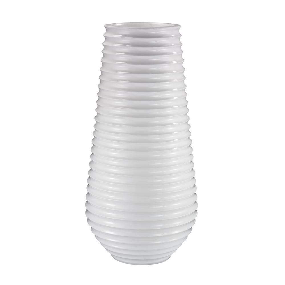Dimond Home by Elk 166-007 White Ribbed Planter in Gloss White