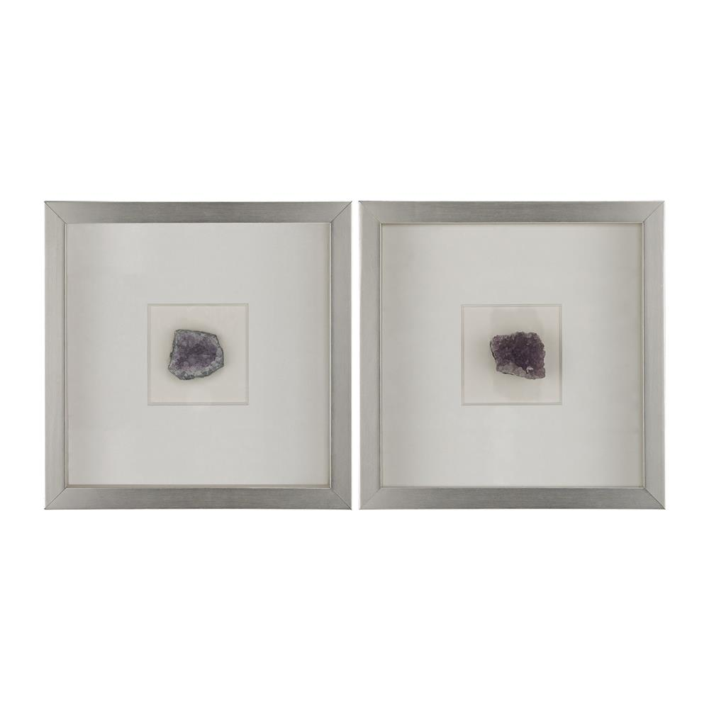 Dimond Home by Elk 168-007 Natural Mineral Wall Décor - Lavender in Silver / Violet Minerals