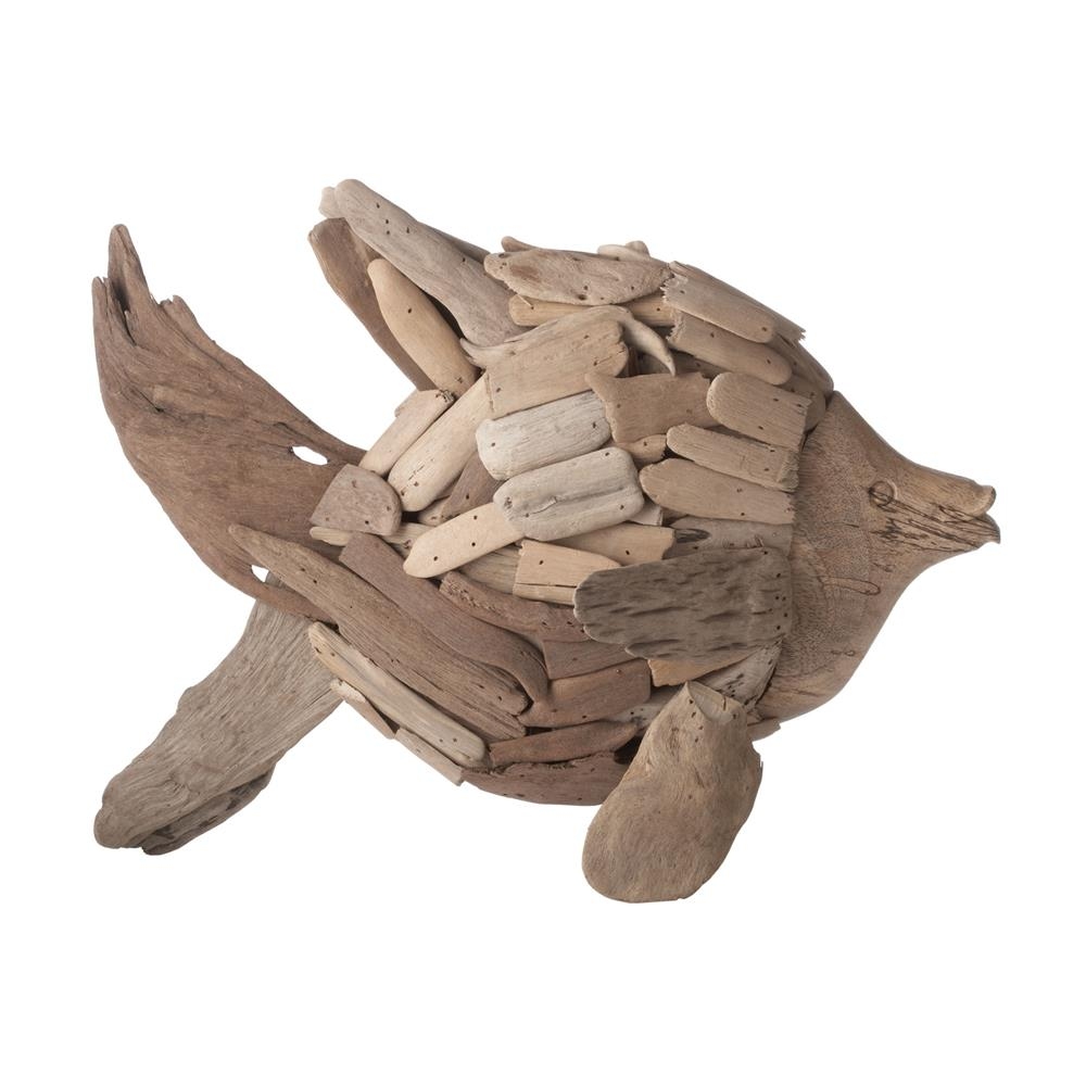 Dimond Home by Elk 356007 Natural Driftwood Angel Fish in Brown