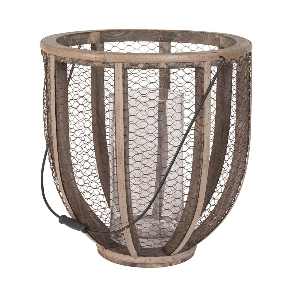 Dimond Home by Elk 594028 Barrel Wire Atlas Hurricane Vase in Gray