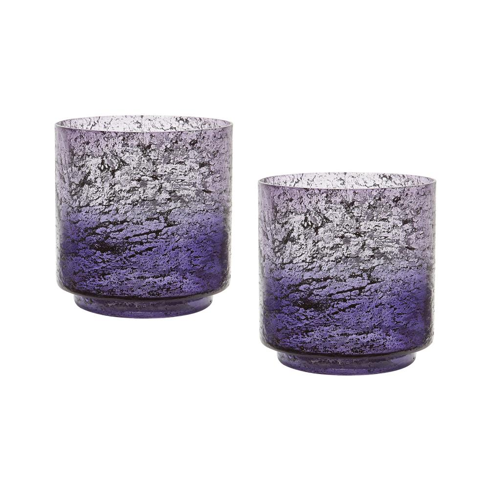 Dimond Home by Elk 876030/S2 Plum Ombre Hurricane - Set Of 2  in Purple Ombre