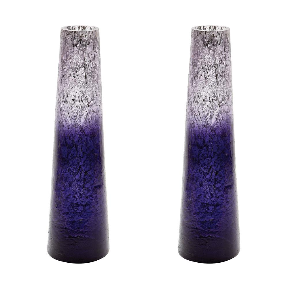 Dimond Home by Elk 876033/S2 Plum Ombre Snorkel Vase in Purple Ombre