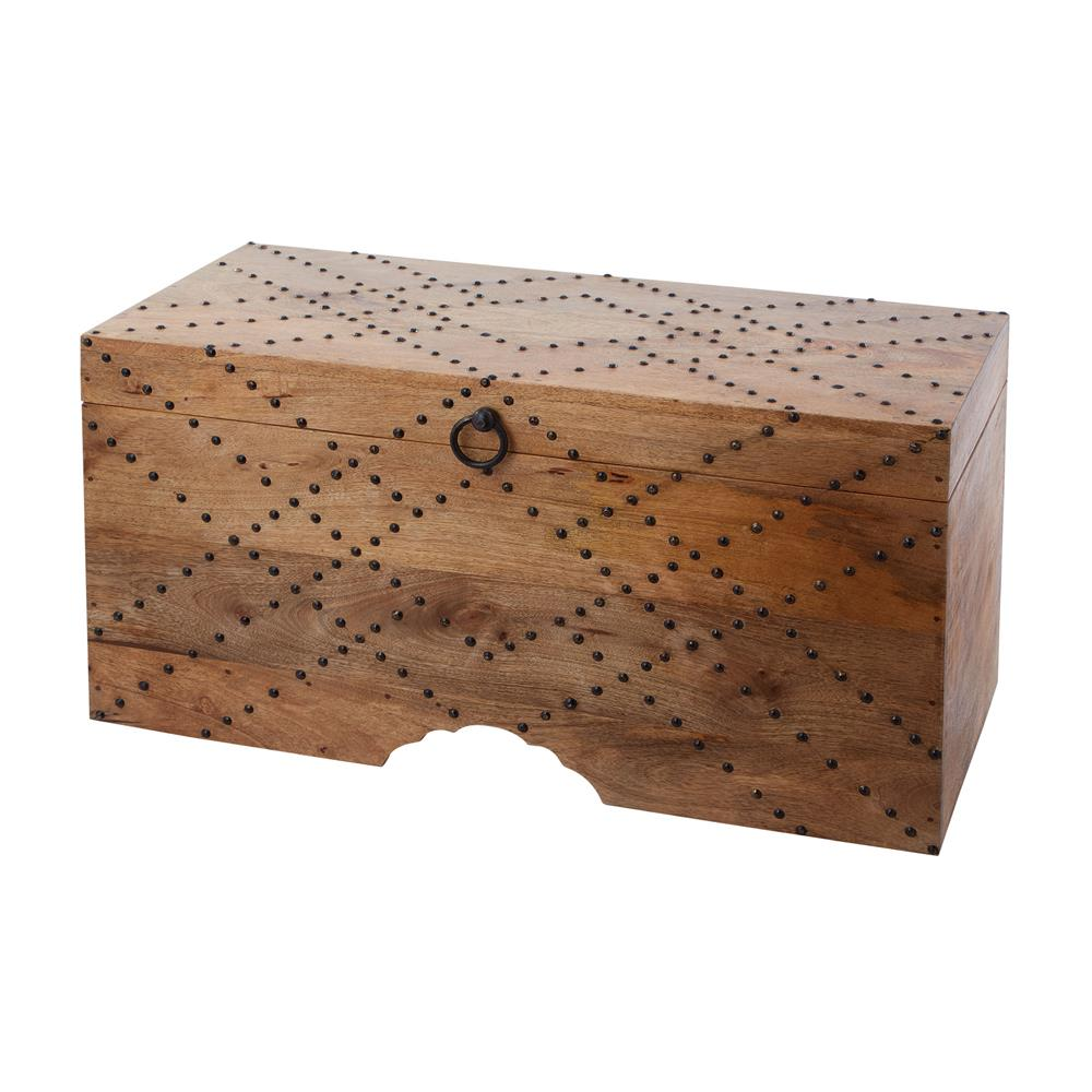Dimond Home by Elk 985-034 Plaid Nail Head Chest in Natural Mango With Bronze