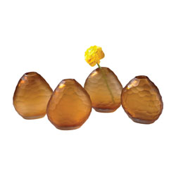 Dimond Home by Elk 4154-045/S4 Cut Pebble Vases - Amber