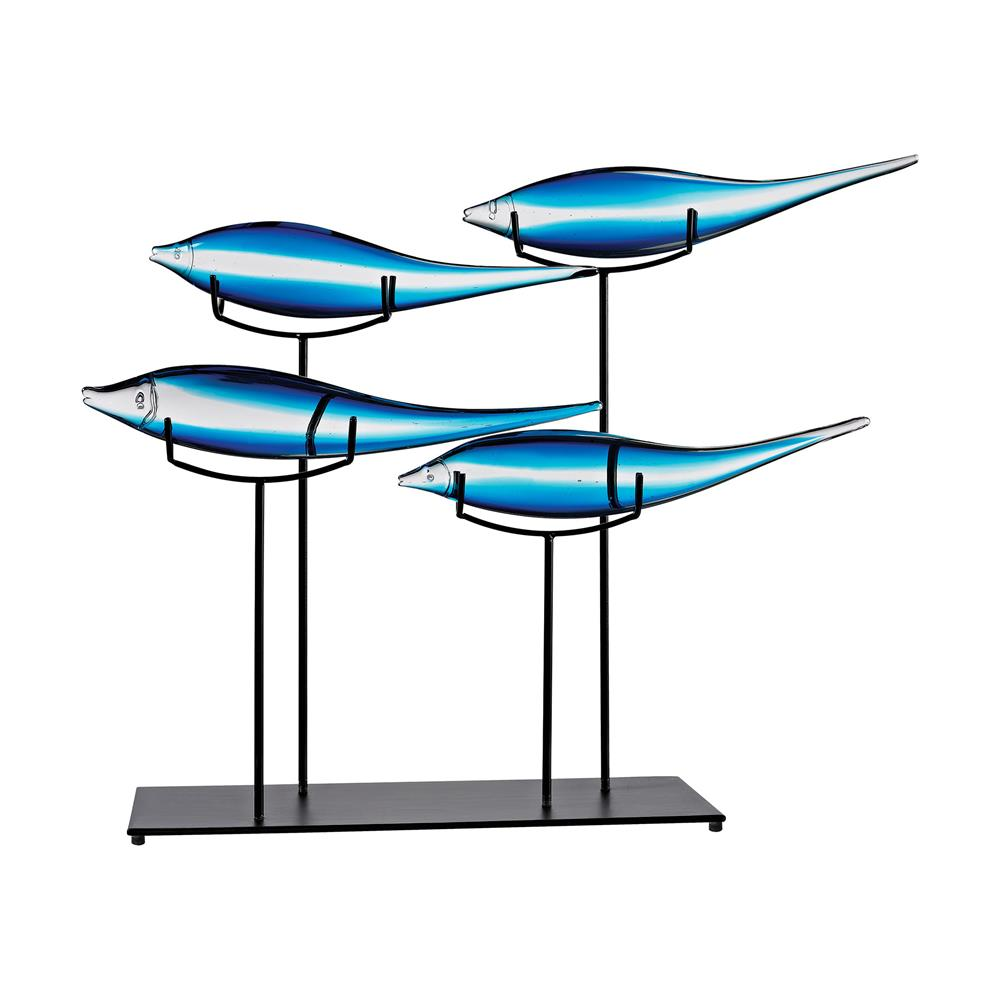 Dimond Home by ELK 4154-058 Tultui Ice Blue 22-Inch Glass and Metal Table Art - Small
