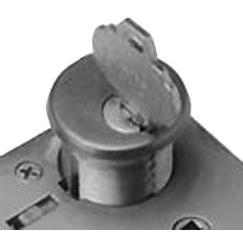 LB Brass LM1534351 Lock in Satin Steel