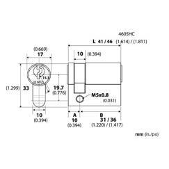 LB Brass 4605HC36015 European Half Cylinder in Satin Nickel