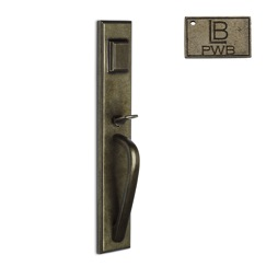 LB Brass CODHERH275L1PWB Deadbolt Handle Entry in Pewter Bronze