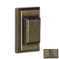 LB Brass COADSC238C1PWB Auxiliary Deadbolt with Single Cylinder in Pewter Bronze