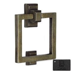 LB Brass COSDK600DKB Square Door Knocker in Dark Bronze