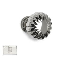 LB Brass CAKNR119C5P14 Cabinet Knob Round in PVD Polished Nickel