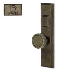 LB Brass COMEELH275K4PWB Mortise Handle Entry in Pewter Bronze