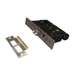LB Brass 4102LHR275KKP15 Mortise Lock in PVD Brushed Nickel